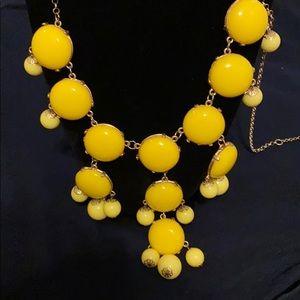 J Crew Yellow Bubble Necklace